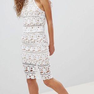 White Lace halter skirt two piece set sz 14